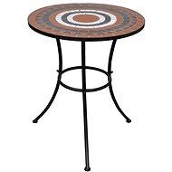 Bistro stolek terakota a bílý 60 cm mozaika - Zahradní stůl