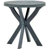 Bistro stolek zelený O 70 cm plast