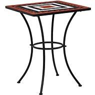 Mozaikový bistro stolek terakotovo-bílý 60 cm keramika - Zahradní stůl