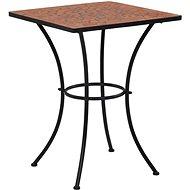 Mozaikový bistro stolek terakotový 60 cm keramika - Zahradní stůl
