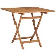 Skládací zahradní stůl 85 x 85 x 76 cm masivní teakové dřevo - Zahradní stůl