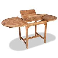 Rozkládací zahradní stůl (110–160) x 80 x 75 cm masivní teak - Zahradní stůl