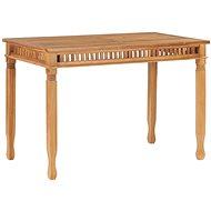 Garden Dining Table 120 x 65 x 80cm Solid Teak Wood