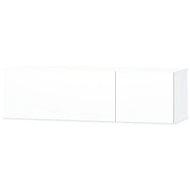 TV stolek dřevotříska, 120x40x34 cm, vysoký lesk, bílý - TV stolek