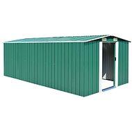 Zahradní domek 257 x 497 x 178 cm kovový zelený - Zahradní domek