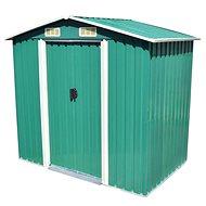 Zahradní domek na nářadí zelený kovový 204x132x186 cm