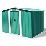 Zahradní domek na nářadí zelený kovový 257x205x178 cm - Zahradní domek