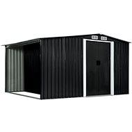 Zahradní domek posuvné dveře antracitový 329,5x205x178 cm ocel - Zahradní domek