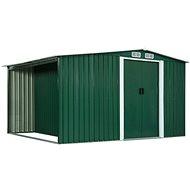 Zahradní domek posuvné dveře zelené 329,5x205x178 cm ocel - Zahradní domek