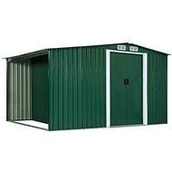Zahradní domek posuvné dveře zelený 329,5x131x178 cm ocel - Zahradní domek