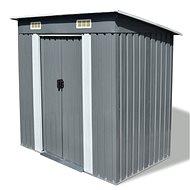 Zahradní domek šedý kovový - Zahradní domek