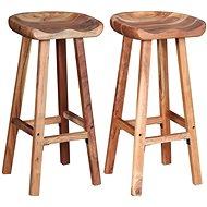 Barové stoličky 2 ks masivní akáciové dřevo - Barová židle