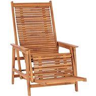 Zahradní polohovací křeslo s podnožkou masivní teakové dřevo 48963 - Zahradní křeslo