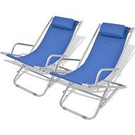 Adjustable garden chairs 2 pcs steel blue 42935 - Garden Chair