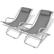 Adjustable Garden Chairs 2 pcs Steel Grey 42938 - Garden Chair