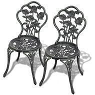 Bistro židle 2 ks litý hliník zelené 43175 - Zahradní židle