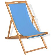 Kempingová židle teakové dřevo 56 x 105 x 96 cm modrá 43803