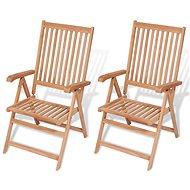 Polohovatelné zahradní židle 2 ks masivní teak 43029