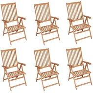 Polohovatelné zahradní židle 6 ks masivní teak 3065526 - Zahradní židle