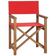 Režisérská židle masivní teak červená 47414