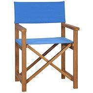 Režisérská židle masivní teak modrá 47412