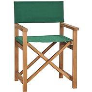 Director' s chair massive teak green 47413 - Garden Chair