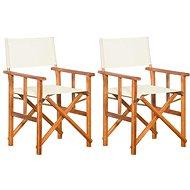 Režisérské židle 2 ks masivní akáciové dřevo 45946 - Zahradní židle