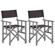 Režisérské židle 2 ks masivní akáciové dřevo 45950