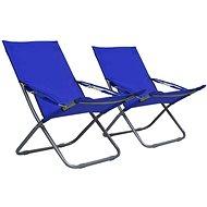 Skládací plážové židle 2 ks textil modré 47902