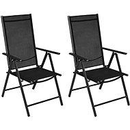 Skládací zahradní židle 2 ks hliník a textilen černé 41730 - Zahradní židle