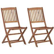 Skládací zahradní židle 2 ks masivní akáciové dřevo 46339