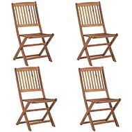 Skládací zahradní židle 4 ks masivní akáciové dřevo 46340 - Zahradní židle