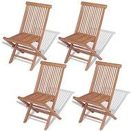 Skládací zahradní židle 4 ks masivní teak  43040