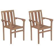 Stohovatelné zahradní židle 2 ks masivní teak 43041 - Zahradní židle