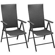 Stohovatelné zahradní židle 2 ks polyratan černé 42796 - Zahradní židle