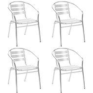 Stohovatelné zahradní židle 4 ks hliníkové 48708 - Zahradní židle