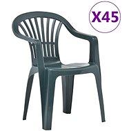 Stohovatelné zahradní židle 45 ks plast zelené 48819