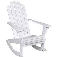 Zahradní houpací křeslo dřevěné bílé 40861 - Zahradní křeslo