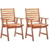 Zahradní jídelní židle 2 ks masivní akáciové dřevo 46312 - Zahradní židle