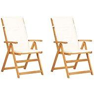 Zahradní polohovací židle 2 ks hnědé masivní akáciové dřevo 45937 - Zahradní židle