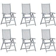 Zahradní polohovací židle 6 ks šedé masivní akáciové dřevo 3065518 - Zahradní židle