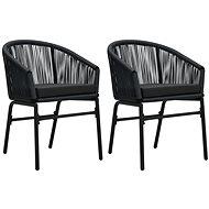 Zahradní židle 2 ks černé PVC ratan 48135 - Zahradní židle