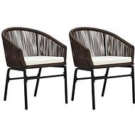 Zahradní židle 2 ks hnědé PVC ratan   48136 - Zahradní židle