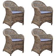 Zahradní židle 4 ks s poduškami přírodní ratan 278736 - Zahradní židle