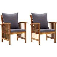 Zahradní židle s poduškami 2 ks masivní akáciové dřevo 310258 - Zahradní židle