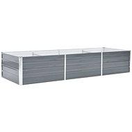 SHUMEE Raised flower bed galvanized steel 240 x 80 x 45 cm gray - Raised Garden Bed