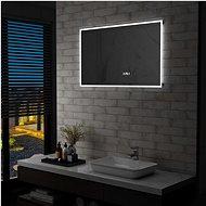Bathroom LED Mirror Touch Sensor Time Display 100x60cm - Mirror