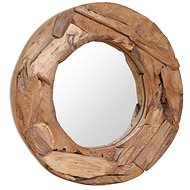 Decorative Teak Mirror 60cm Round