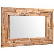 Decorative Teak Mirror 90 x 60cm Rectangular - Mirror