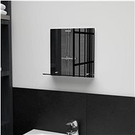 Wall Mirror with Shelf 30 x 30cm Tempered Glass - Mirror